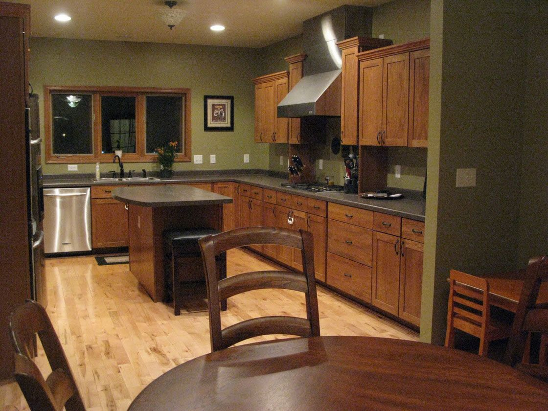 Green Paint Kitchen Ideas Part - 23: Kitchen, Delightful Wooden Cabinet Ideas On Incredible Dark Green Kitchen  Color Design And Homey Wooden Dining Table Sets Design - Find Perfect  Kitchen ...