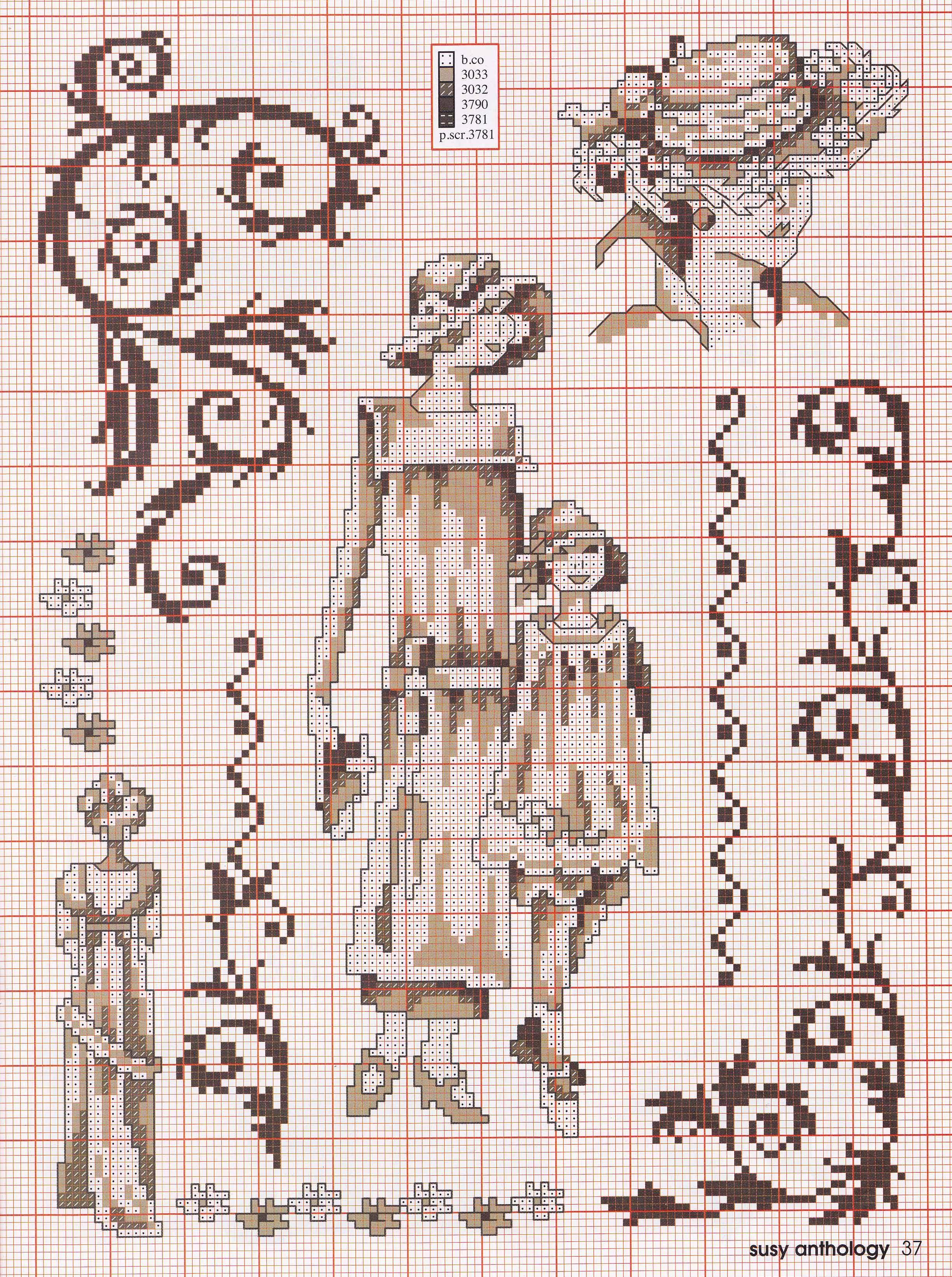 point de croix femme vintage - cross stitch woman