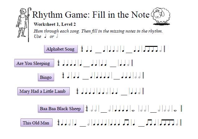 rhythm worksheet Termolak – Rhythm Worksheet