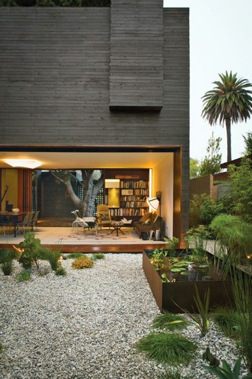 34 ideen f r gartengestaltung mit kies preisg nstige l sung garten pinterest. Black Bedroom Furniture Sets. Home Design Ideas