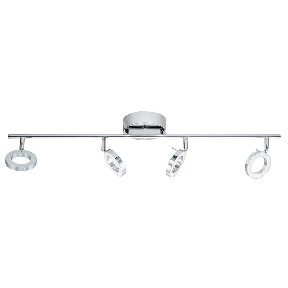 Eglo naudella 25 ft chrome integrated led track lighting kit chrome integrated led track lighting kit led track lighting kitshome depot aloadofball Image collections