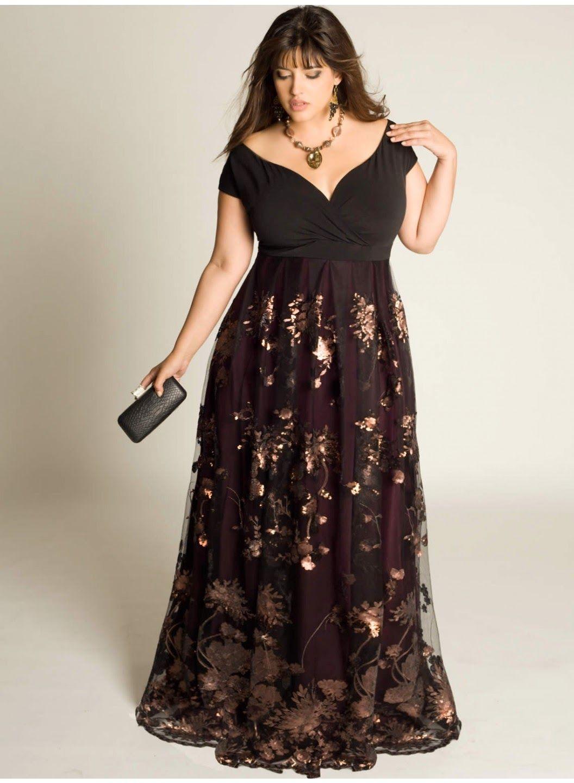 Vestidos de noche para mujeres gordas