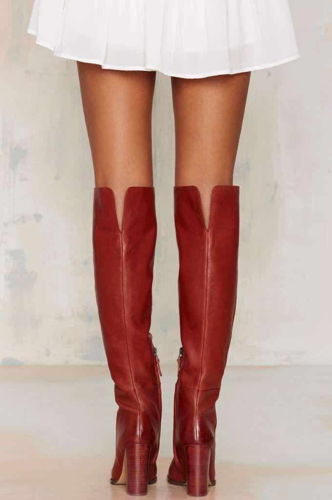 Sam Edelman Rylan Knee-High Leather Boot - Shoes | Heels