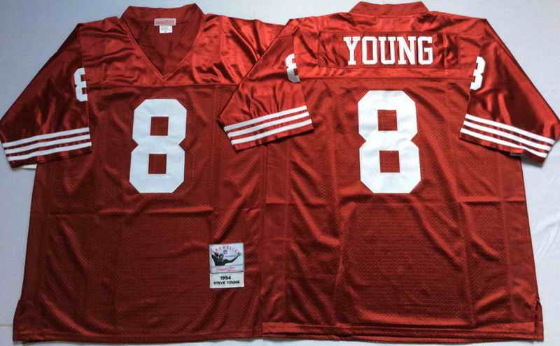 9be18d28f ... Red · 22 Mitchell Ness San Francisco 49ers 8 Steve Young Red NFL  Throwback Jersey ...