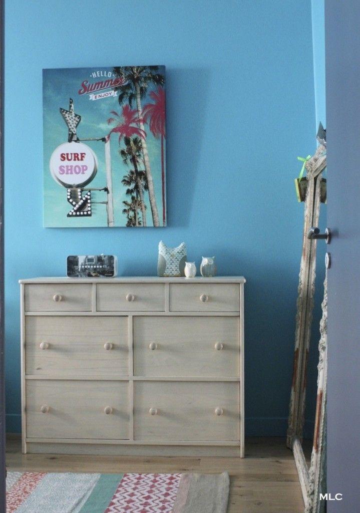 chambre-fille-ado-turquoise - Le blog deco de mlc living