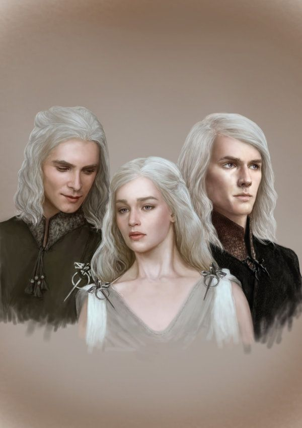 The Targaryen siblings, Viserys, Daenerys and Rhaegar - by
