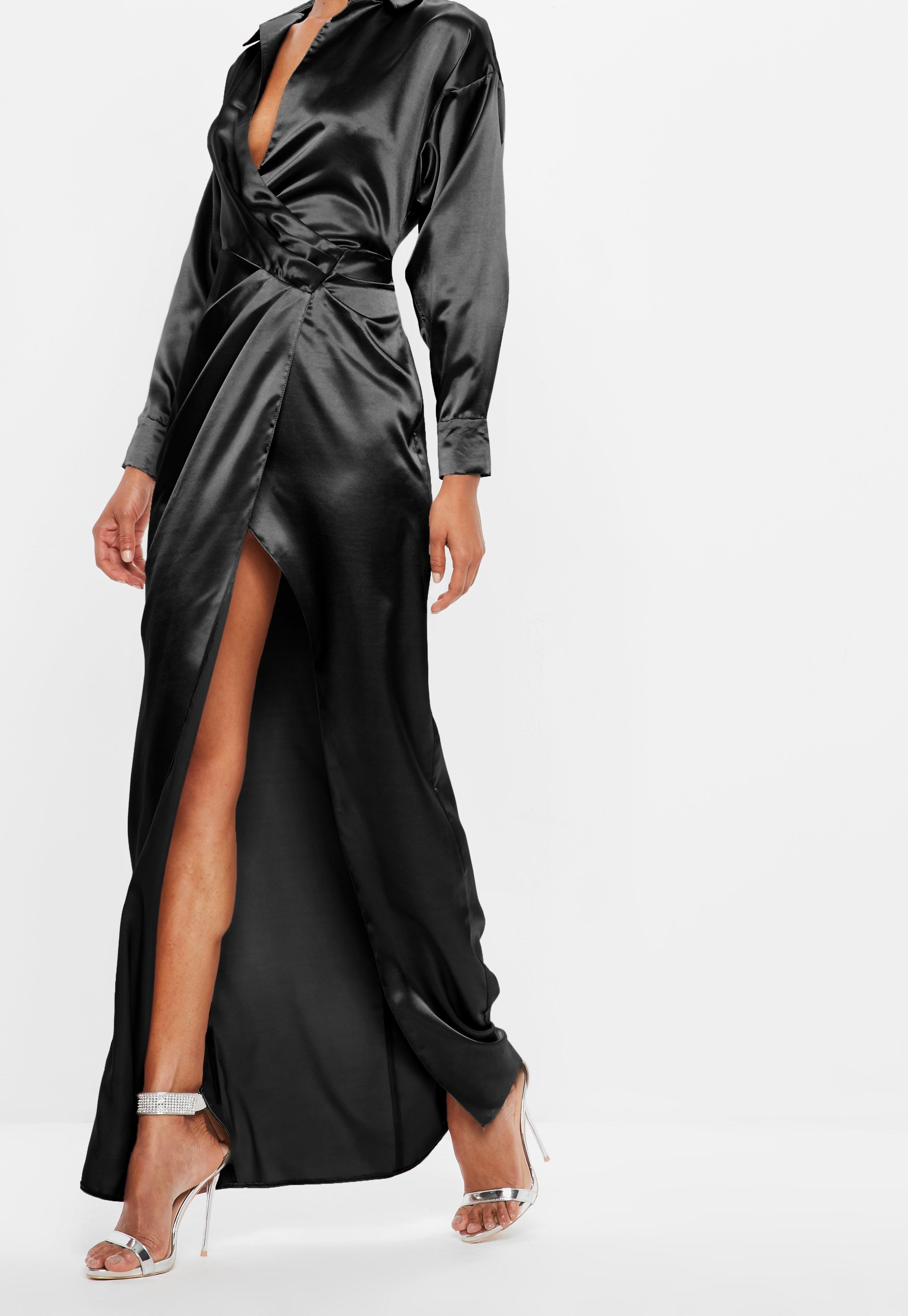 Peace Love Black Satin Wrap Maxi Dress Sponsored Black Sponsored Love Peace Maxi Wrap Dress Clothes For Women Fashion Outfits [ 4200 x 2900 Pixel ]