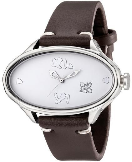 181 Reloj de mujer A las tantas UNO de 50 - caja ovalada bañada en plata 1458d667a0e9
