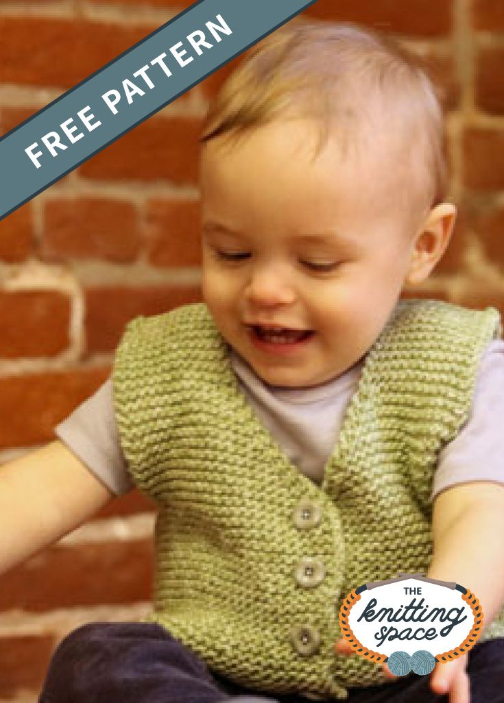 Endearing Knitted Baby Vest [FREE Knitting Pattern]