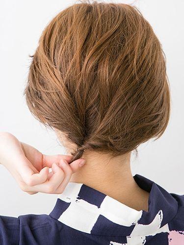 浴衣に似合う ショート ボブでも出来る簡単かわいいヘアアレンジ 髪型 ショートに 夏 浴衣に似合う ショート ボブの簡単ヘアアレンジ 髪型 ひとりで出来る 編み込 ボブ アップスタイル やり方 ボブ アップスタイル ボブ