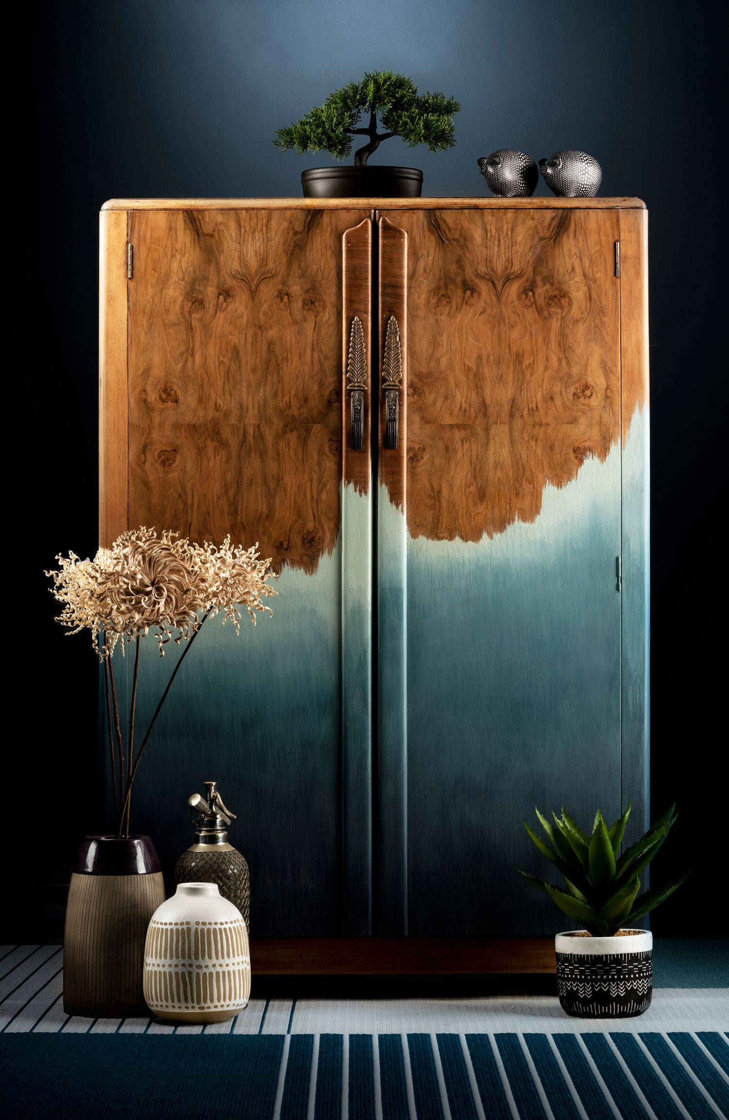 Inspiration | Ombre Walnut wardrobe by Patience & Gough
