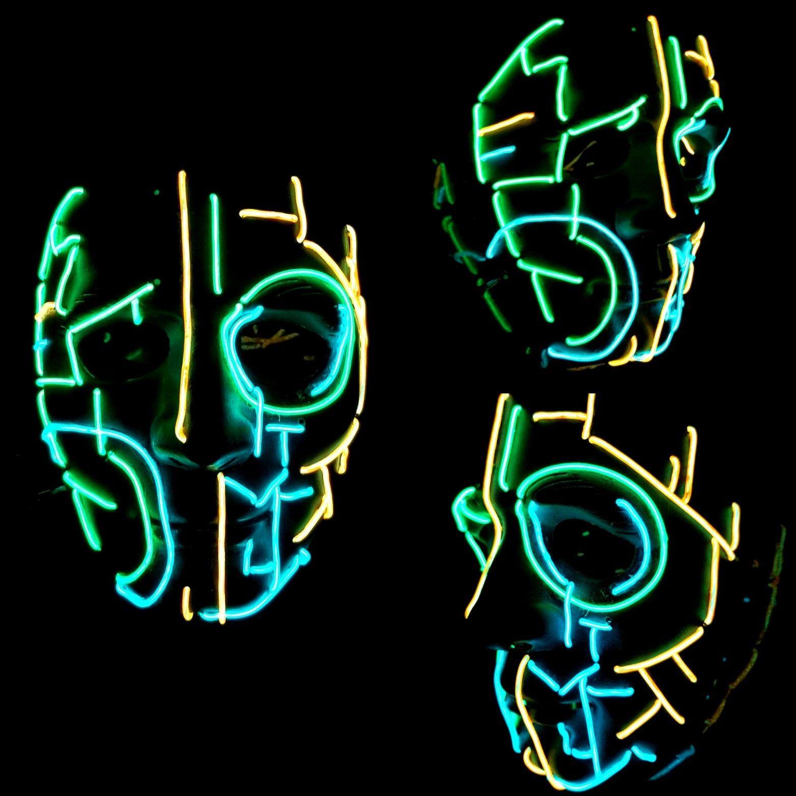 Halloween Festivals 2020 Edm ROBO LED Light Up MaskEl WireRave | Etsy in 2020 | Rave mask