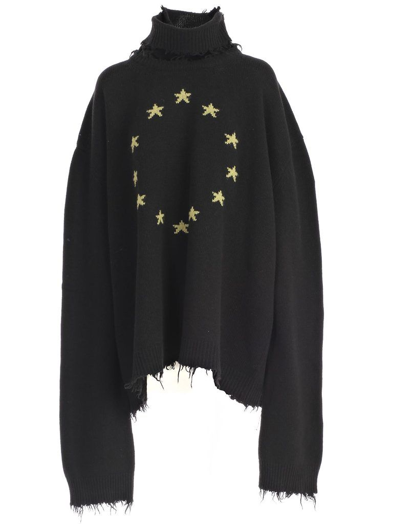 Vetements Oversized Star Knit Sweater  972d85ec9a47