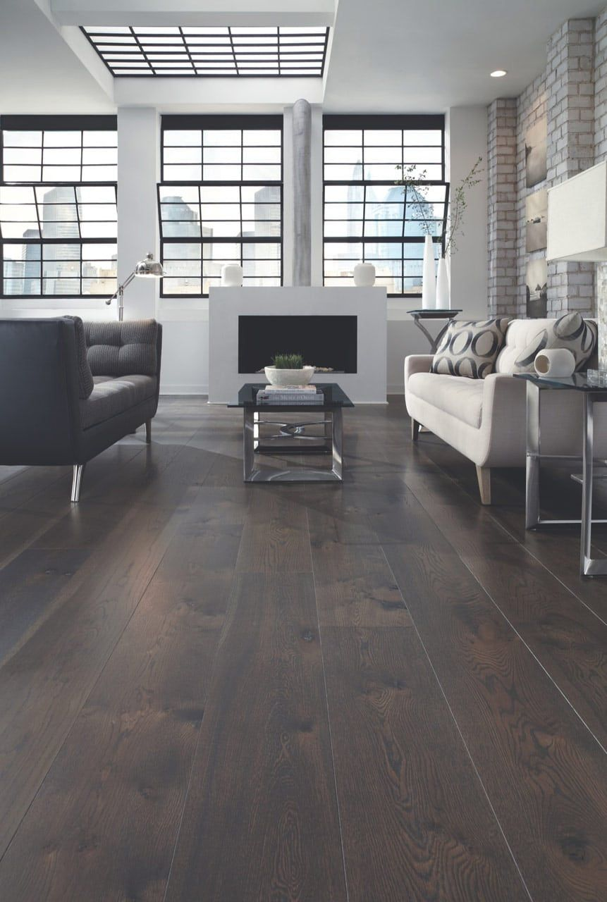 City Loft Dark White Oak Floors Carlisle Wide Plank Floors White Oak Floors Wide Plank Hardwood Floors Wood Floors Wide Plank #oak #floor #living #room