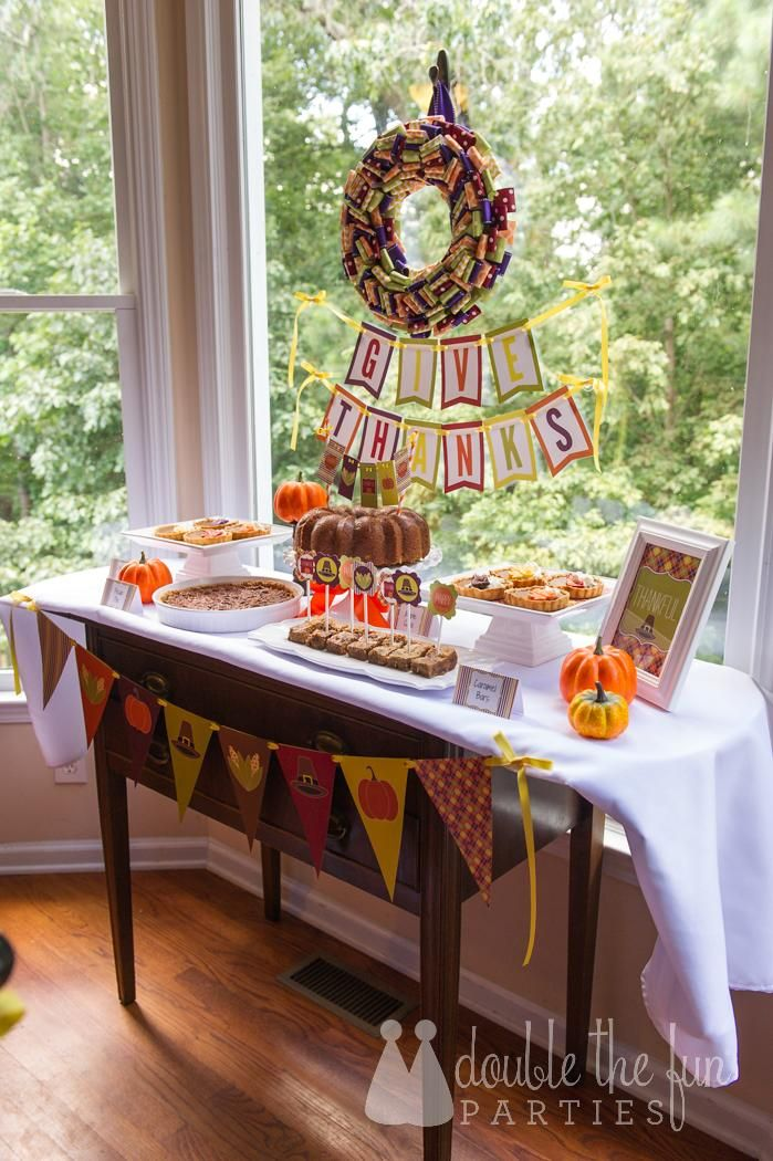 Thanksgiving Dessert Table & Party by Double Fun The Parties with Printables by Love The Day