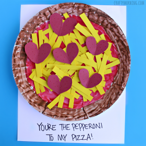 Make a fun paper plate pepperoni pizza craft for Valentines day! It says  Youu0027re the pepperoni to my pizza!  sc 1 st  Pinterest & paper-plate-pepperoni-pizza-valentine-craft-for-kids | R. Kidu0027s Art ...