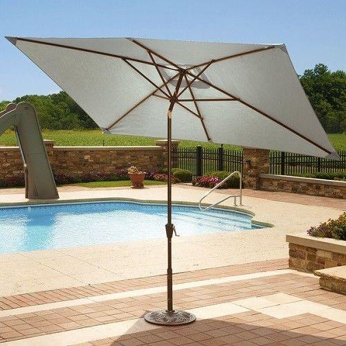 Patio Umbrella Large Rectangle Outdoor Shade Umbrellas With Tilt Canopy 10 Ft Adriatic