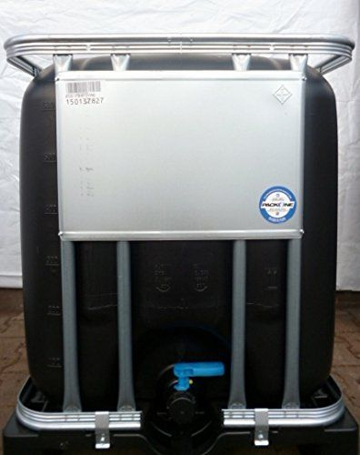 ibc wassertank tank regentonne 600 liter neu schwarz. Black Bedroom Furniture Sets. Home Design Ideas
