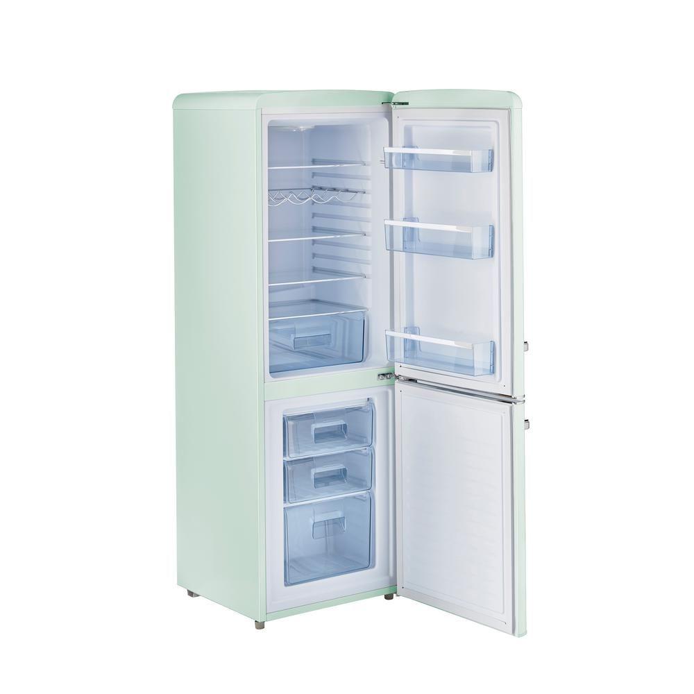 Unique retro 216 in 7 cu ft bottom freezer