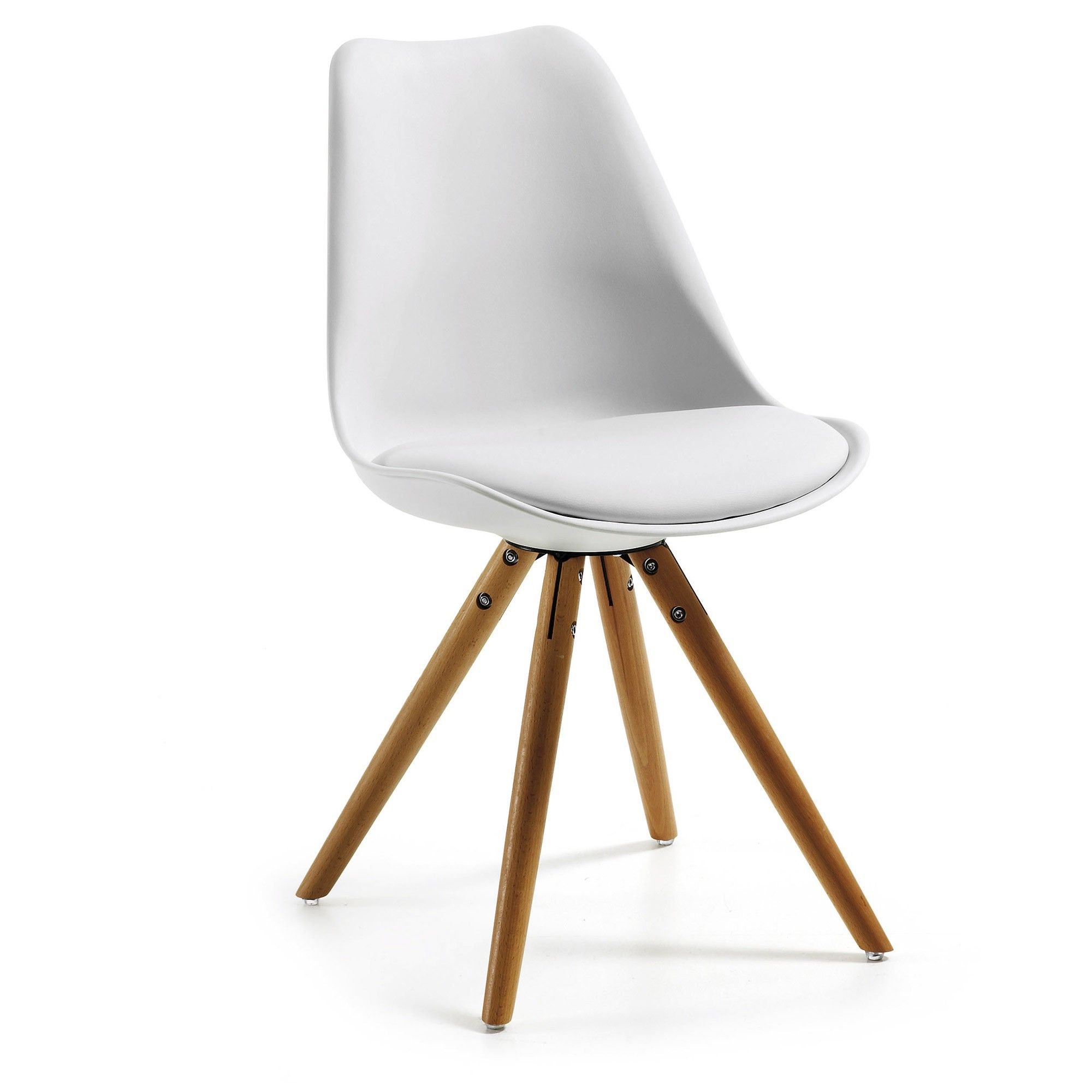 Chaise Ralf blanc et naturel   Kave Home®   Chaise, Chaises