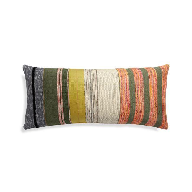 Multicolored Rectangular Throw Pillow