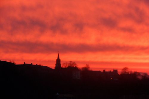 Sunrise: View from my Office 13 February 2013