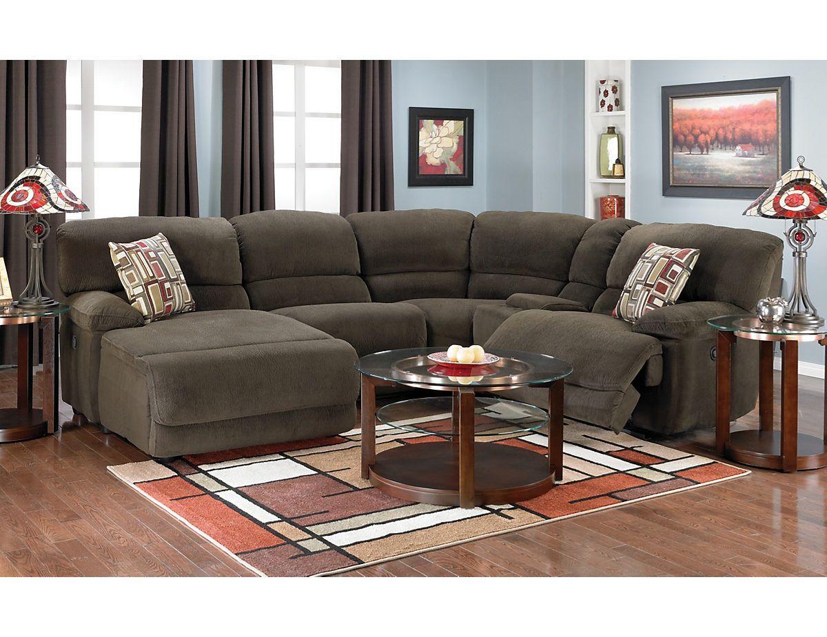 Devon 5 Piece Home Theatre Sectional Devonsec5 The Brick Livingroom Sofa Living Room