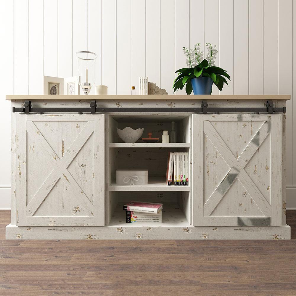 Top mount furniture sliding door hardware double door kits in