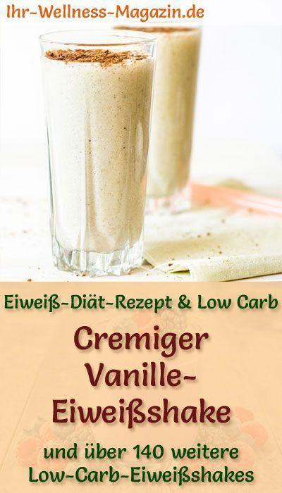 Vanille-Eiweißshake - Low-Carb-Eiweiß-Diät-Rezept #protiendiet