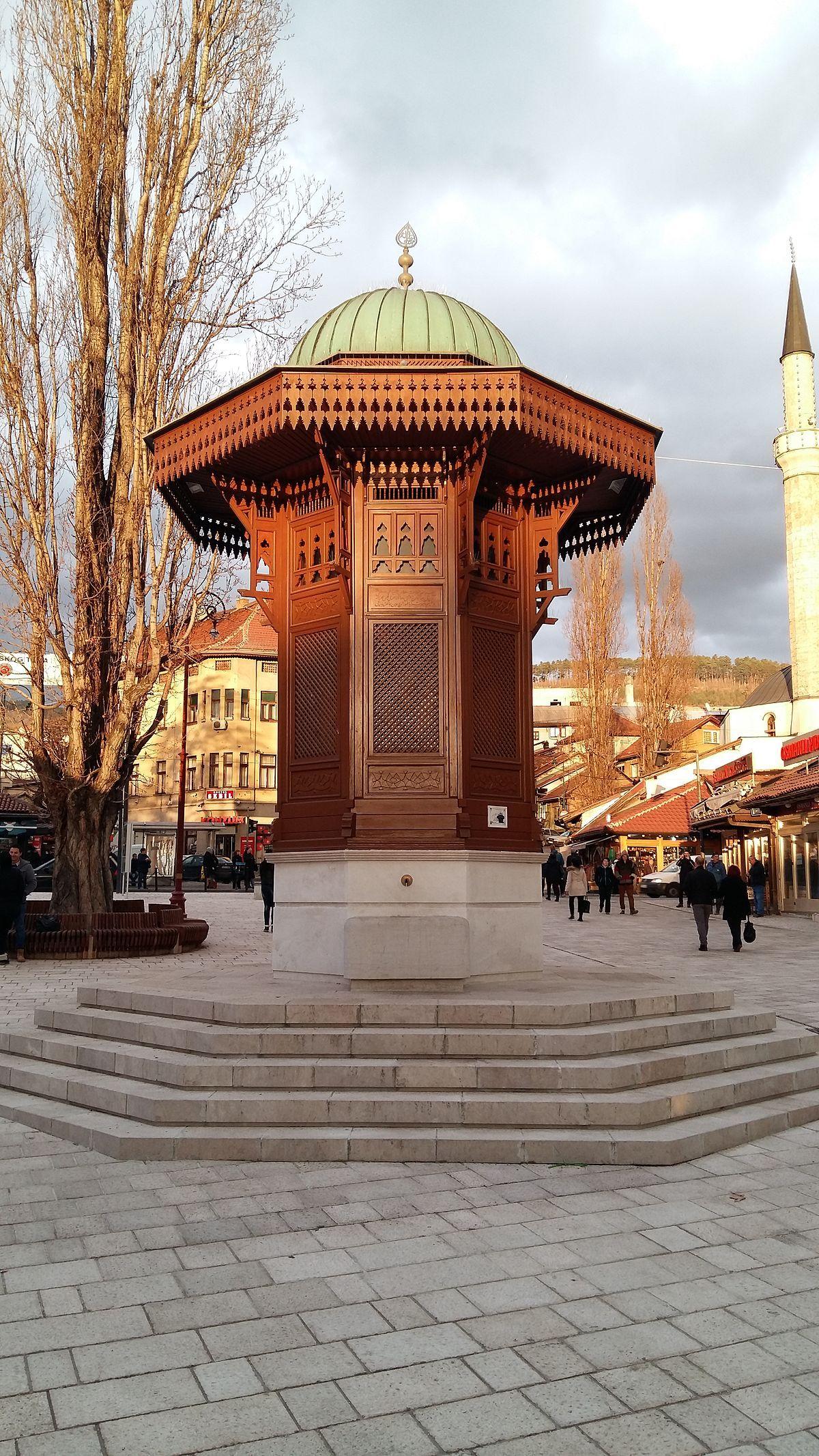 Sebilj in Sarajevo - Wikipedia | Muslim women | Sarajevo