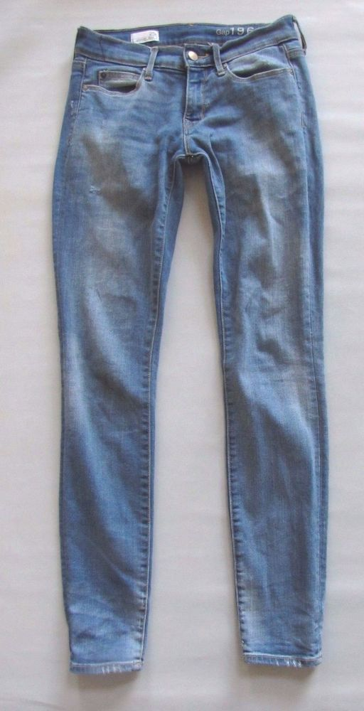 0be6a4df22871 GAP Legging Jeans 25 0 Riot Light Blue Distressed Skinny Jegging Jean 1969  Denim #GAP #LeggingsSlimSkinny