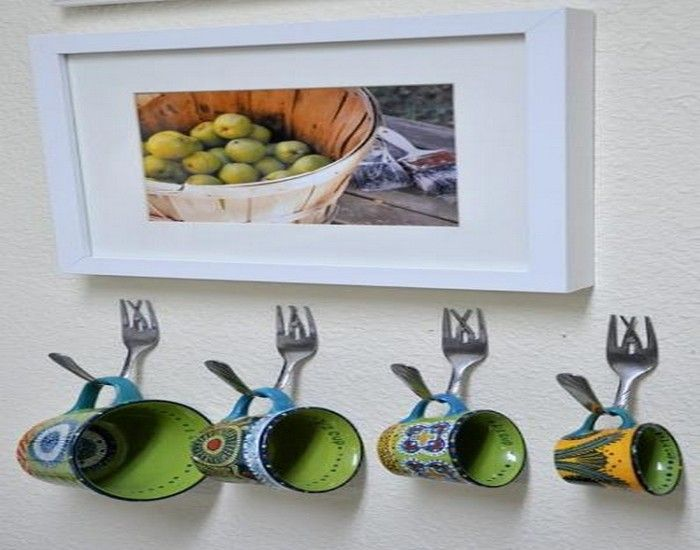 Delightful Recycle Home Decor Ideas Part - 11: Recycled Crafts Metal Tableware DIY Home Decoration Designs