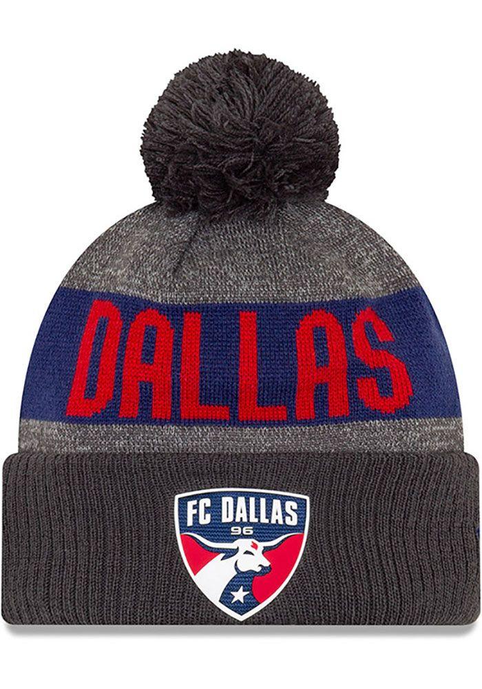 6fd6f6c27d2 New Era FC Dallas Grey 2019 Official Sport Mens Knit Hat - 5908895