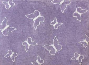 Teppich Schmetterling Rosa ~ Lorena canals waschbarer kinderteppich punkte grau rosa