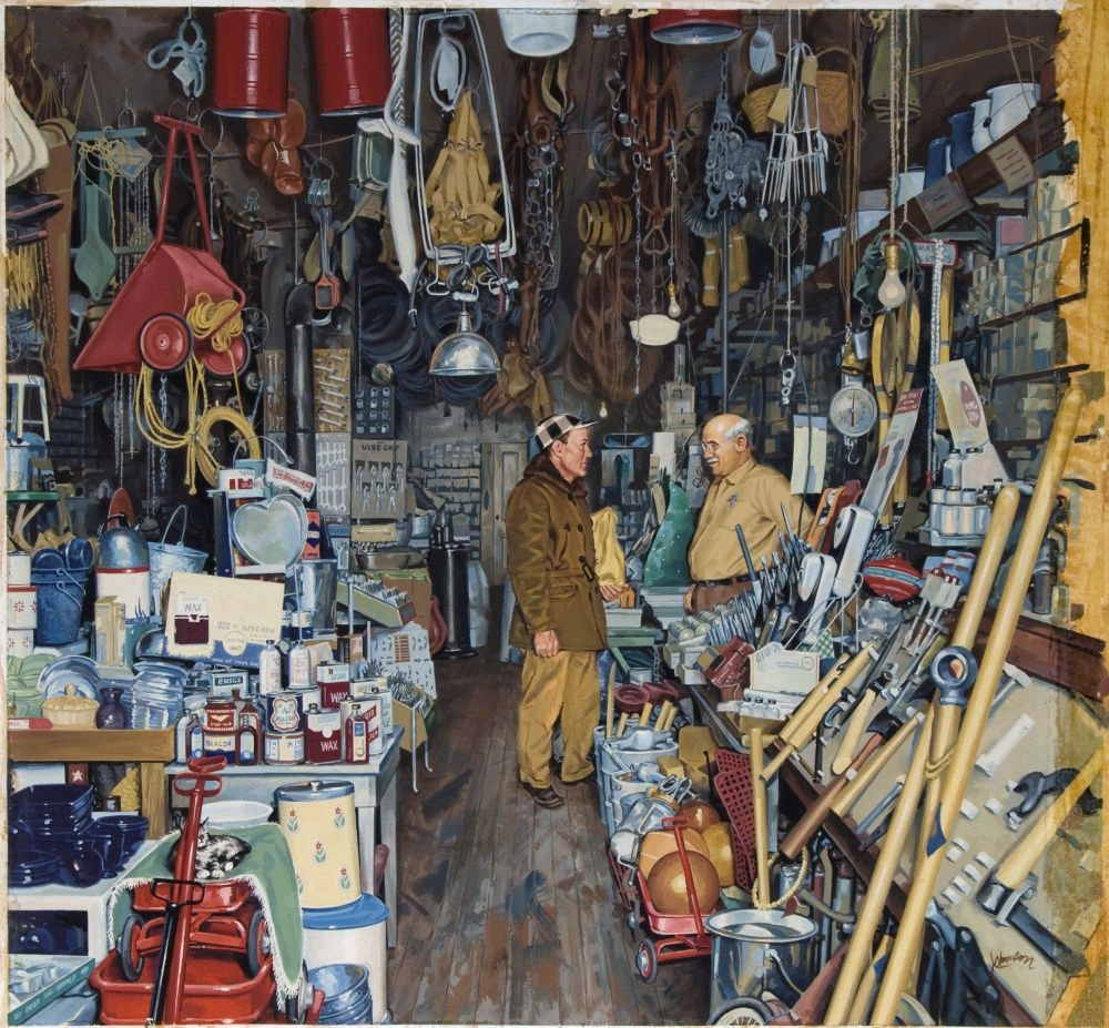 Old Hardware Store Items Cool Things Hardware Store Painting