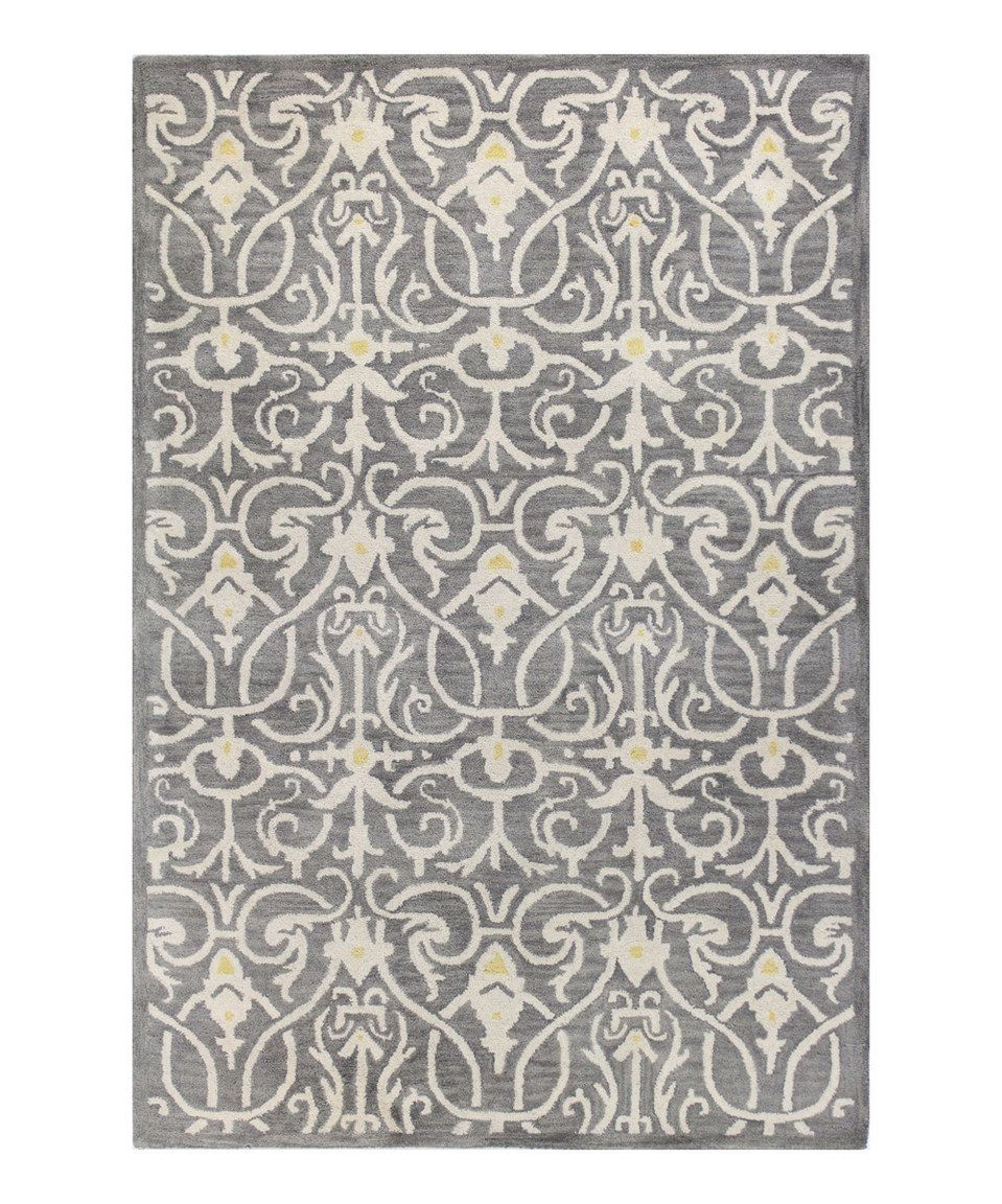 Loving this Gray Traditional Wool Rug on #zulily! #zulilyfinds