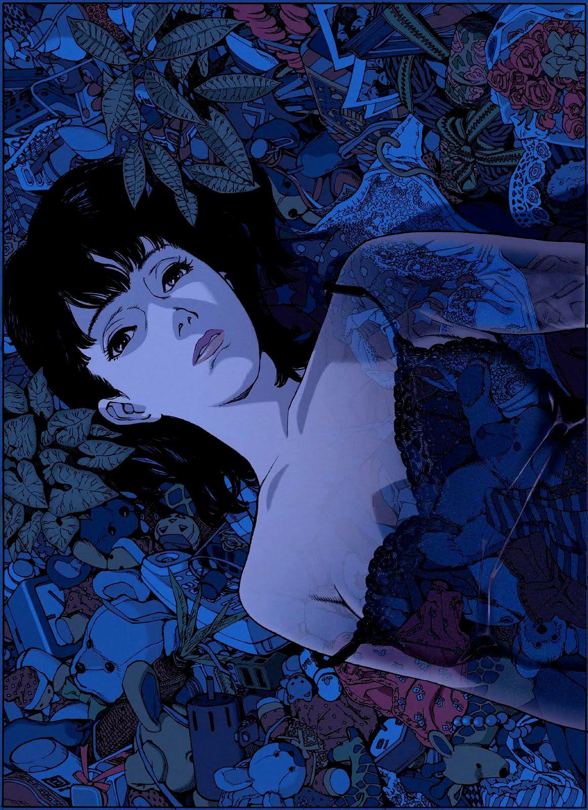 blue arte anime wallpaper fofinho desenhos