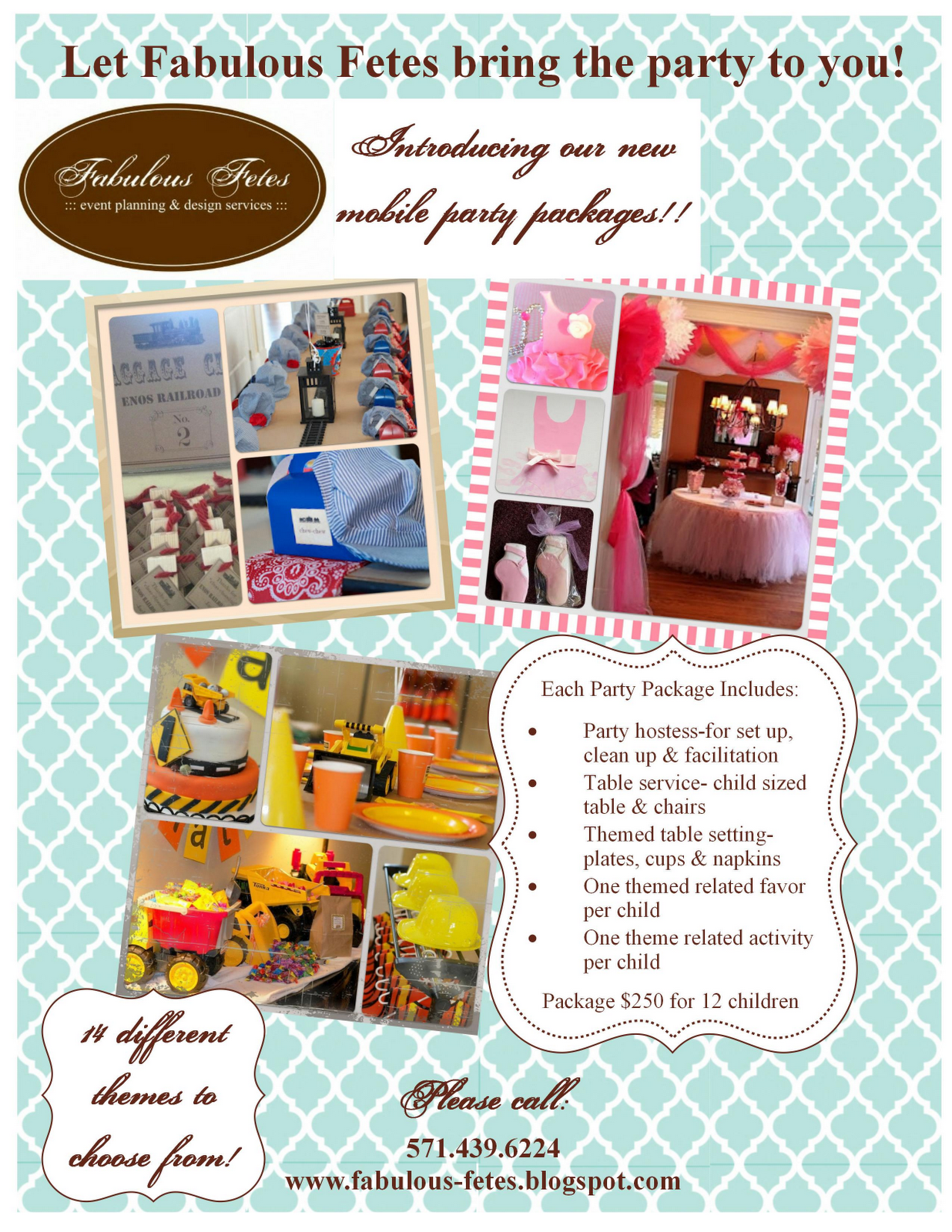 party planner flyer packages google search party planner flyers
