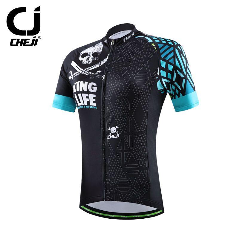 Womens Original Cheji Jersey Top Bicycle Bike Jersey Classic Skull MTB  Shirts Short Sleeve S- 5e12860b3