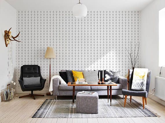 Removable Wallpaper Scandinavian Wallpaper Temporary Wallpaper
