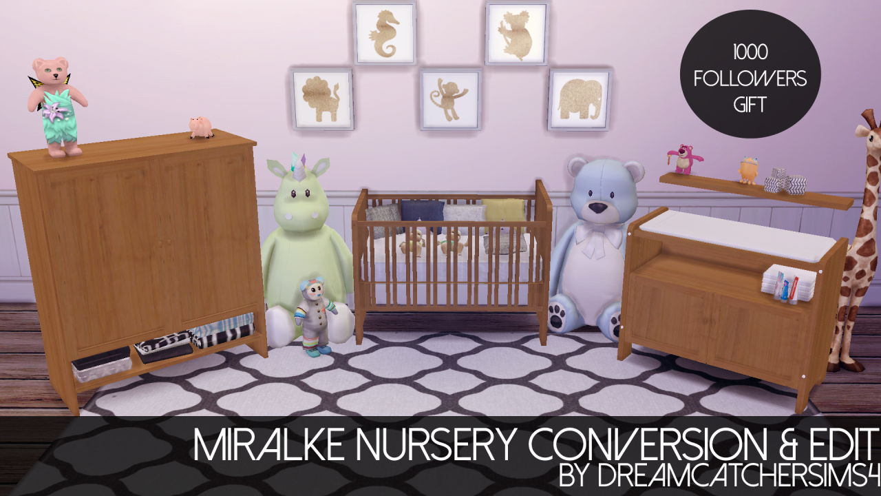 Lana Cc Finds Miralke Nursery Conversion Ts4 Room Sets