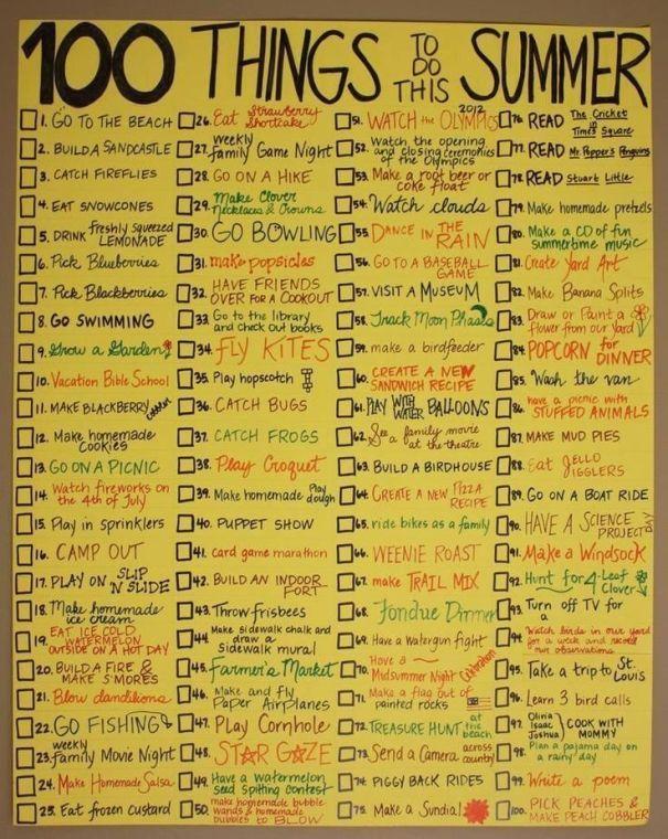 Summer Bucket List Random Sommer Aktiviteter Summer Bucket Lists
