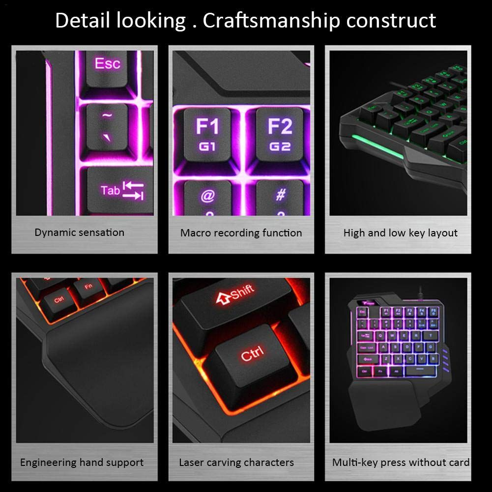 New Gaming Mechanical One-handed Keyboard Left Hand Game For LOL //Dota PUBG