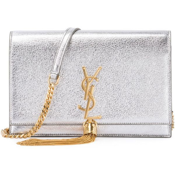 Saint Laurent Kate Monogram Tassel Chain Wallet ( 1,550) ❤ liked on  Polyvore featuring bags 1a6bbb8131