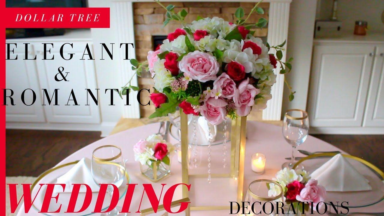Dollar Tree Elegant Romantic Wedding Decorations Diy Crystals