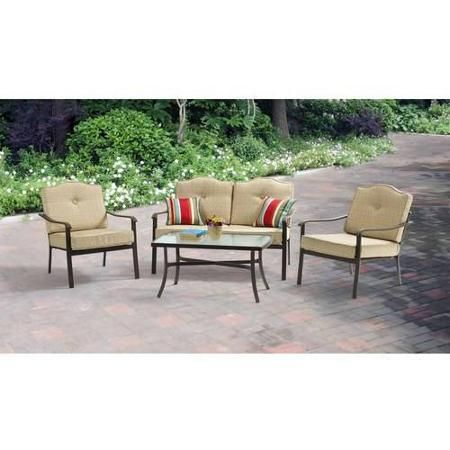 2 Sets Matching Patio Furniture 278 Mainstays