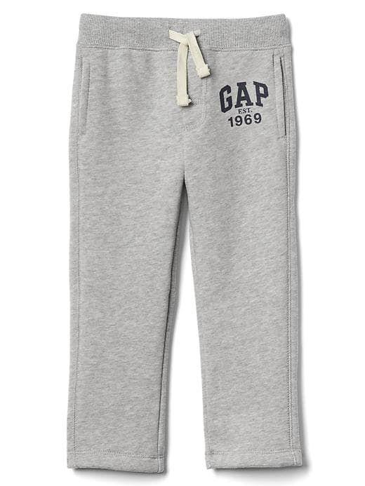 b8107fa88 Gap Baby Logo Fleece Sweats Light Heather Gray