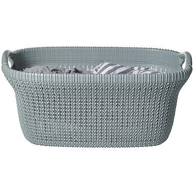 Knit Effect Laundry Basket Blue From Lakeland With Images
