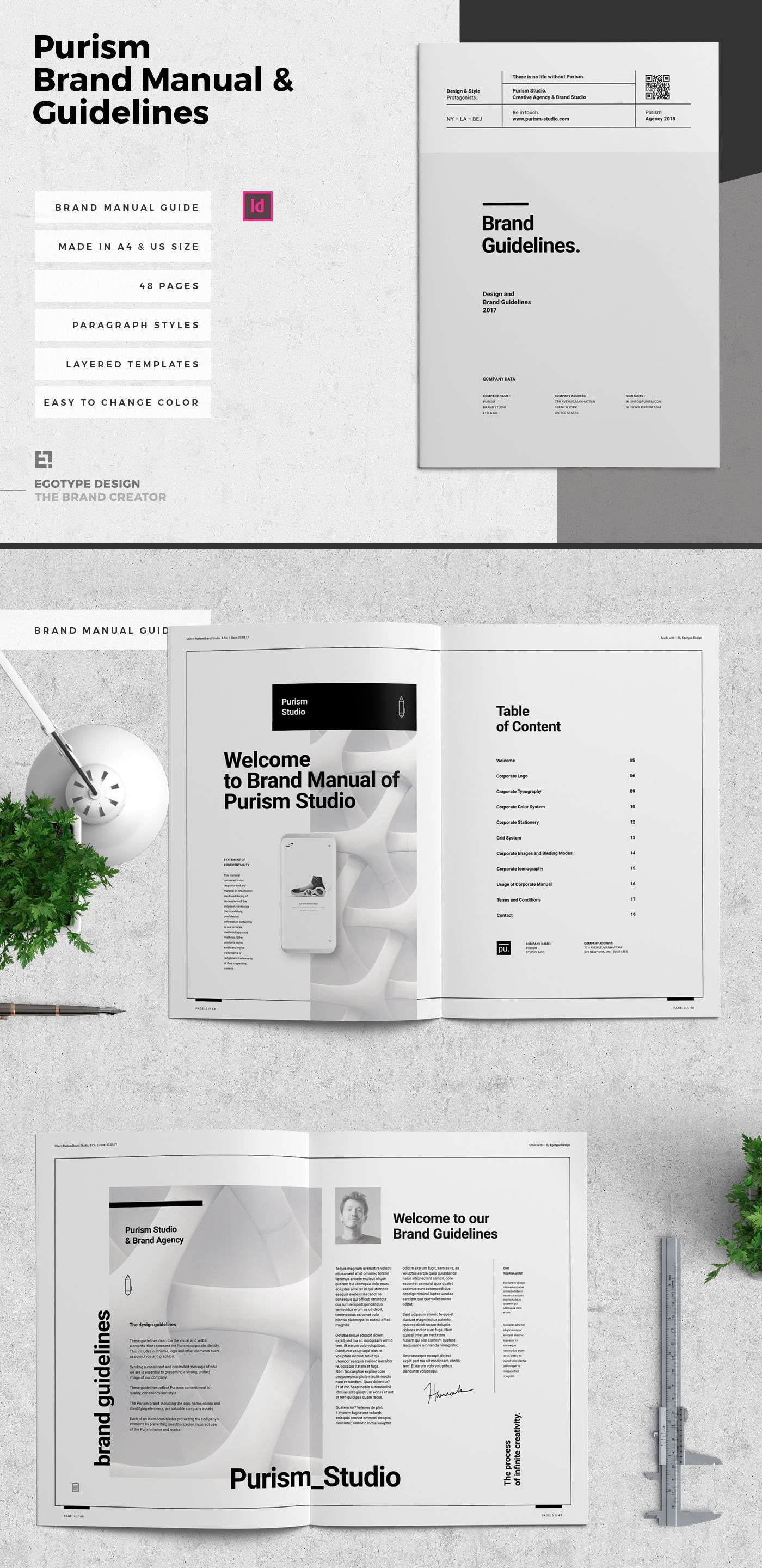 Check Out This Behance Project Purism Brand Manual Guidelines Https Www Behance Net Gallery 582 Brand Manual Portfolio Template Design Brand Guidelines