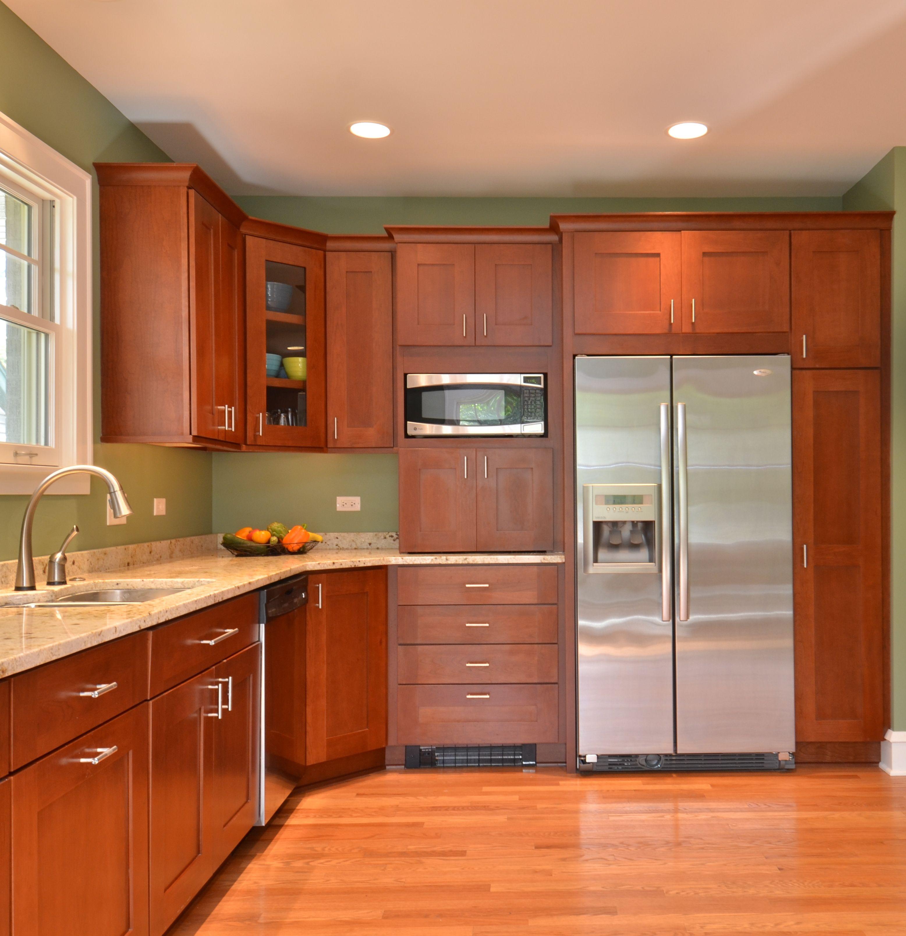 Kitchen With Cherry Cabinets Kitchen Cocinas